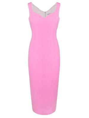 Шелковое платье Alina German. Цвет: розовый