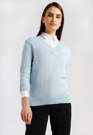 Пуловер Finn Flare. Цвет: голубой