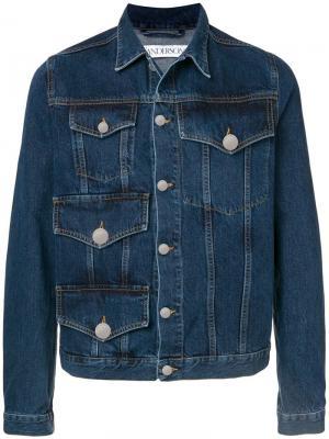 Джинсовая куртка с карманами JW Anderson. Цвет: синий