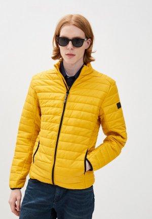 Куртка утепленная Indicode Jeans. Цвет: желтый