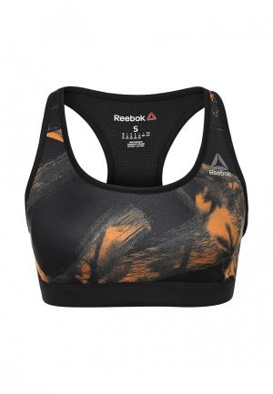 Топ спортивный Reebok RE BRA 1. Цвет: черный
