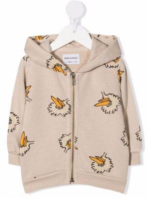 Bird-print hoodie Bobo Choses. Цвет: нейтральные цвета