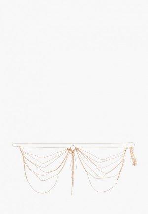 Пояс Bijoux Indiscrets -цепочка. Цвет: золотой