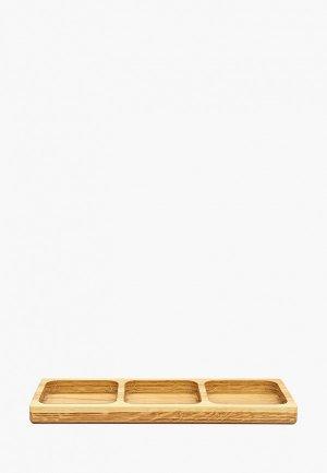 Блюдо сервировочное Мастер Рио. Цвет: коричневый