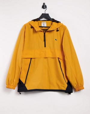 Водонепроницаемая ветровка-пуловер в стиле унисекс unisex live-Желтый Lacoste