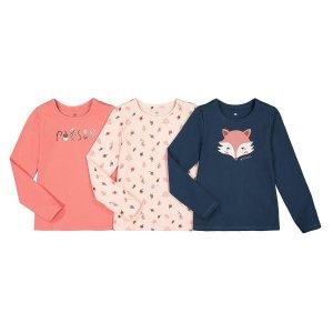 Комплект из 3 футболок LaRedoute. Цвет: розовый
