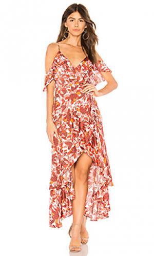 Платье frankie Bardot. Цвет: красный