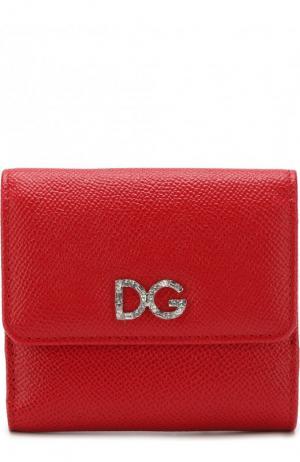 Кожаный кошелек с тиснением Dauphine Dolce & Gabbana. Цвет: красный