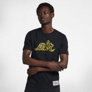 Мужская хоккейная футболка Air Jordan Nike. Цвет: черный