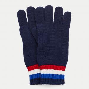 Перчатки Lacoste. Цвет: синий