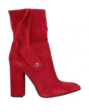 Полусапоги и высокие ботинки RELISH. Цвет: красный