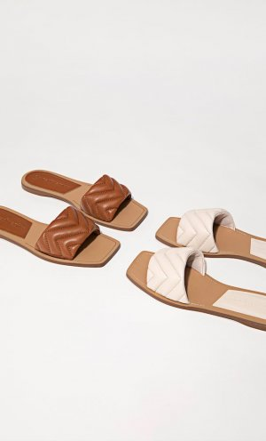 Стеганые сандалии на плоской подошве Stradivarius