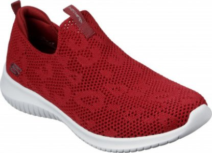 Слипоны женские Ultra Flex, размер 37.5 Skechers. Цвет: красный