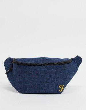 Темно-синяя нейлоновая сумка-кошелек на пояс -Темно-синий Farah