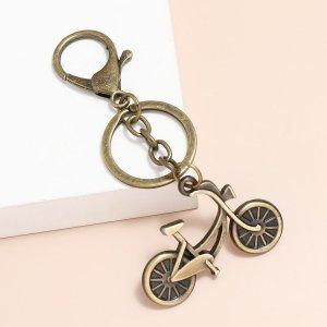 Мужской брелок с велосипедом SHEIN. Цвет: бронзовый