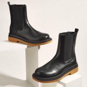 Ботинки челси минималистичный SHEIN. Цвет: чёрный