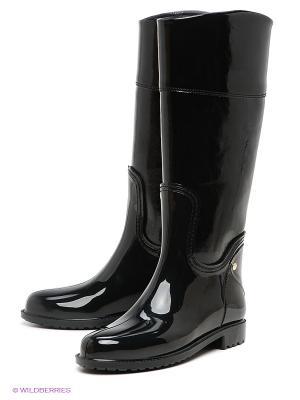 Резиновые сапоги Lady Lita. Цвет: черный