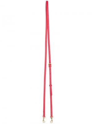 Тонкий регулируемый ремешок на плечо Anya Hindmarch. Цвет: красный