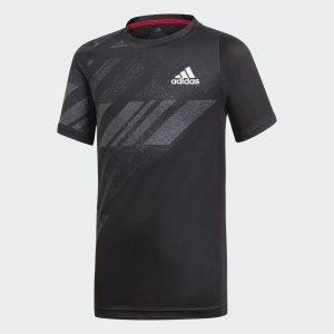 ФУТБОЛКА ДЛЯ ТЕННИСА FREELIFT BOYS Performance adidas. Цвет: черный