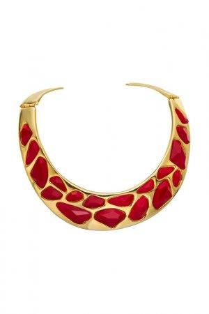 Чокер-ожерелье Kenneth Jay Lane. Цвет: красный