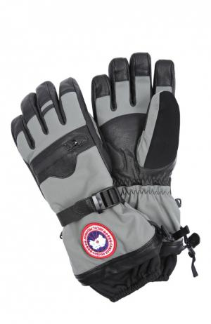 Перчатки Canada Goose. Цвет: серый
