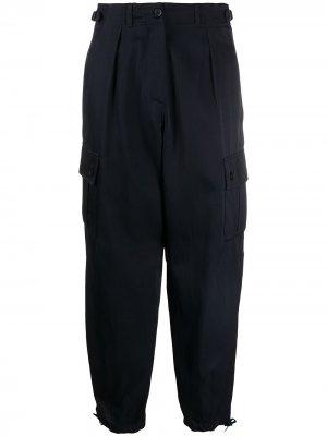 Укороченные брюки карго Aspesi. Цвет: синий