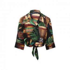 Шелковая рубашка Dolce & Gabbana. Цвет: разноцветный