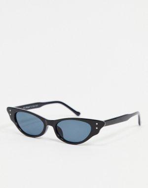 Черные солнцезащитные очки кошачий глаз -Черный цвет AJ Morgan