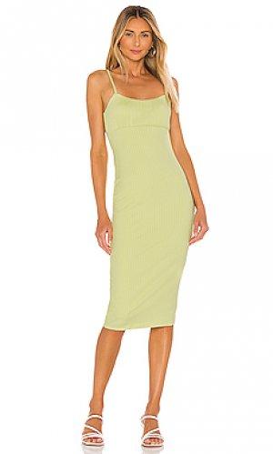 Платье bradbury Lovers + Friends. Цвет: зеленый