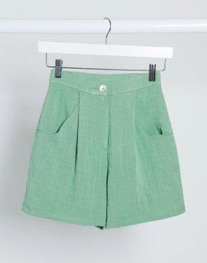 Зеленые шорты -Зеленый Monki
