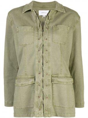 Куртка со шнуровкой Current/Elliott. Цвет: зеленый