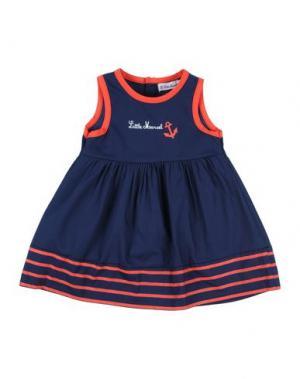 Платье LITTLE MARCEL. Цвет: темно-синий