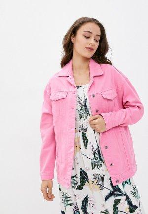 Куртка джинсовая Mossmore. Цвет: розовый