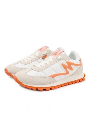 Комбинированные кроссовки Jogger MARC JACOBS (THE). Цвет: белый