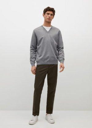 Пуловер с терморегуляцией - Tenv Mango. Цвет: меланжевый светло-серый
