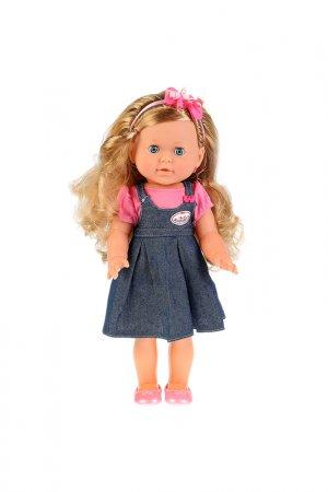 Кукла в джинсовом сарафане Карапуз. Цвет: синий
