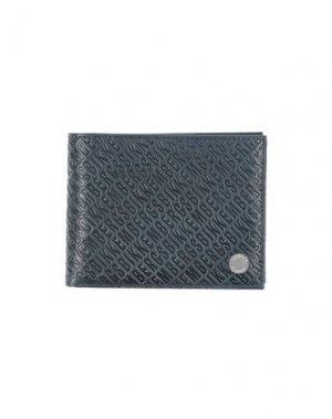 Бумажник BIKKEMBERGS. Цвет: темно-синий