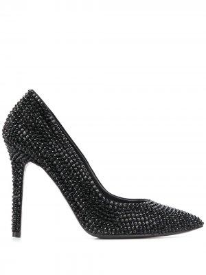 Туфли-лодочки на шпильке с заостренным носком Amen. Цвет: черный