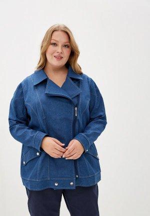 Куртка джинсовая JP. Цвет: синий