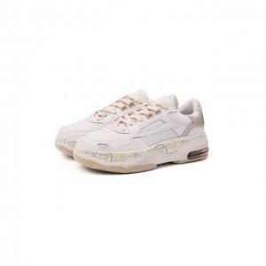 Комбинированные кроссовки Drake-D Premiata. Цвет: белый