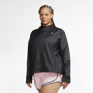 Женская беговая куртка Nike Essential (большие размеры) - Черный
