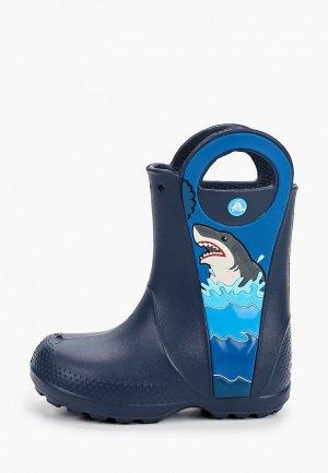 Резиновые сапоги Crocs CrocsFL Shark Ptch Rain Boot B. Цвет: синий