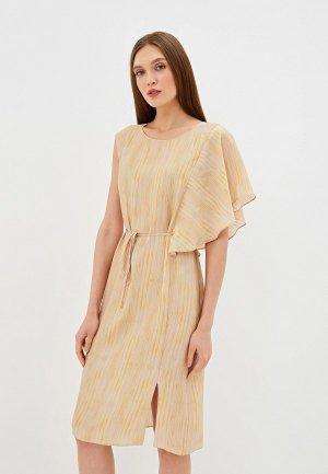Платье EMI. Цвет: бежевый
