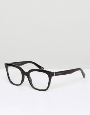 Квадратные очки в черной оправе Marc Jacobs. Цвет: коричневый