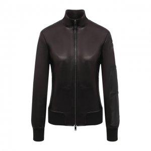 Кожаная куртка Valentino. Цвет: чёрный
