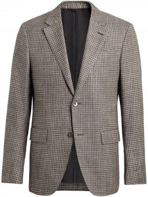 Однобортный пиджак с заостренными лацканами Ermenegildo Zegna. Цвет: коричневый