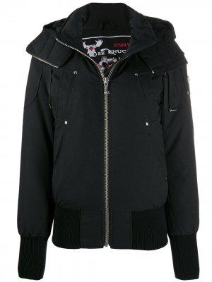 Куртка-бомбер с капюшоном Moose Knuckles. Цвет: черный