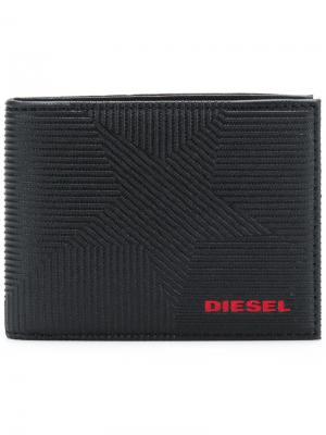 Кошелек Neela XS Diesel. Цвет: чёрный