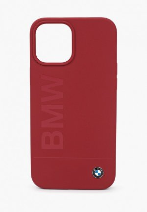 Чехол для iPhone BMW 12 Pro Max (6.7), Signature Liquid silicone Laser logo Red. Цвет: бордовый
