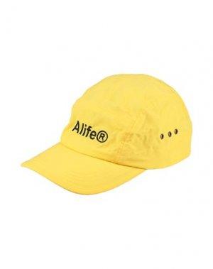 Головной убор ALIFE. Цвет: желтый